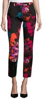 Trina Turk Aubree 2 Cropped Floral Pants, Black