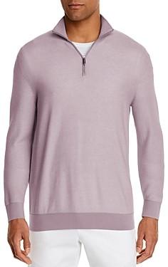 The Men's Store at Bloomingdale's Cotton Textured Half-Zip Sweater - 100% Exclusive