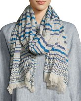 Eileen Fisher Striped Organic Cotton Wrap, Catalina