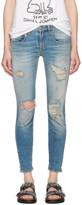 R 13 Blue Shredded Boy Skinny Jeans