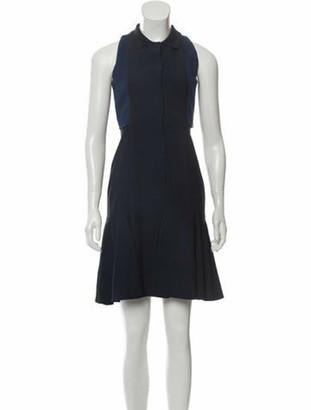 Akris Mesh-Accented Mini Dress w/ Tags