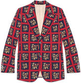 Gucci Heritage floral check print jacket