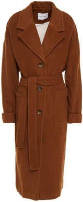 American Vintage Belted Wool-blend Felt Coat