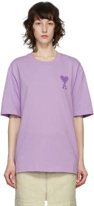 Ami Alexandre Mattiussi Purple Big Ami De Coeur T-Shirt