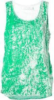 Victoria Beckham slit sides tank - women - Silk/Polyester/Spandex/Elastane/Viscose - 14