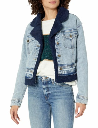Ella Moss Women's Styling Mixed Denim Jean Jacket