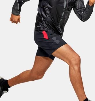 Under Armour Men's UA Qualifier Speedpocket Branded 7'' Linerless Shorts