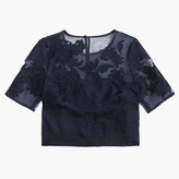 J.Crew Collection top in embroidered lace