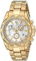 Brillier Women's 14-03 Analog Display Swiss Quartz Gold Watch