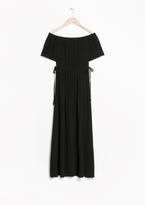 Other Stories Off-Shoulder Maxi Dress