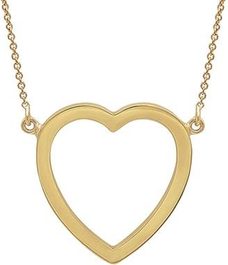 Jennifer Meyer Large Open Heart Yellow Gold Necklace