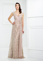Mon Cheri Montage by Mon Cheri - 217954W Queen Anne Metallic Lace Gown