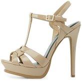 Charlotte Russe T-Strap Platform Dress Sandals