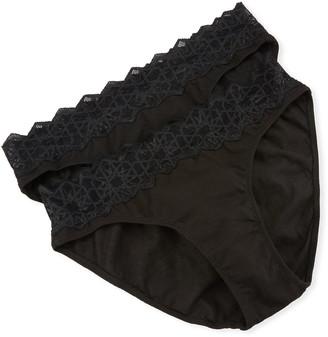 Cosabella 2-Pack Avi Lace-Trim Bikini Briefs