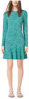 Michael Kors Rain-Print Jersey Dress