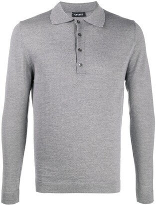Cenere Gb Long Sleeved Knitted Polo Shirt