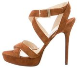 Jimmy Choo Suede Platform Sandals
