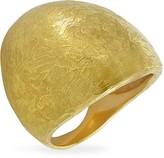Torrini Elena - Flamed 18K Yellow Gold Shield Ring