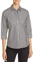 Foxcroft Mixed Stripe Top