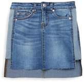 7 For All Mankind Little Girl's Hi-Lo Denim Skirt