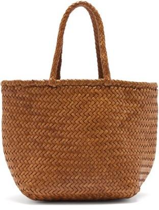 DRAGON DIFFUSION Grace Small Woven Leather Basket Bag - Tan