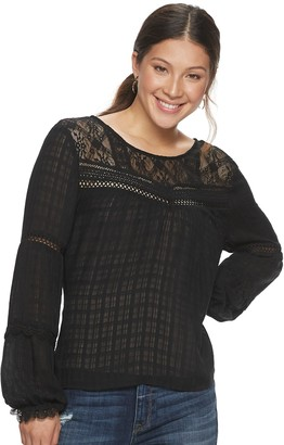 American Rag Juniors' Lace Illusion Blouse