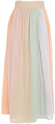Mara Hoffman Katrine Color-block Cotton-gauze Midi Wrap Skirt