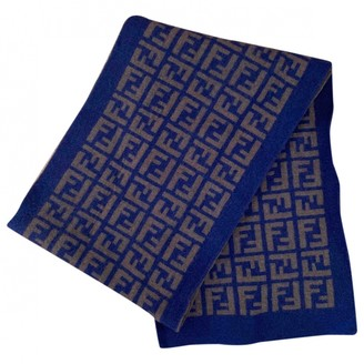 Fendi Blue Wool Scarves & pocket squares