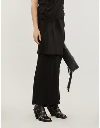 Rick Owens Crepe and silk-blend maxi skirt