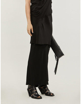 Rick Owens Crepe and silk-blend maxi skirt
