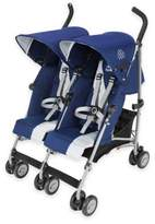 Maclaren Twin Triumph Double Stroller in Blue/Silver