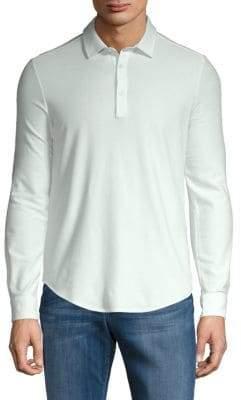 Loro Piana Long-Sleeve Jersey Polo Shirt