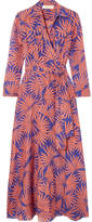 Diane von Furstenberg Printed Cotton And Silk-blend Wrap Midi Dress - Antique rose