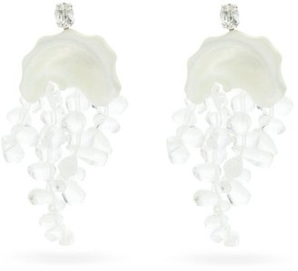 Simone Rocha Mother Of Pearl-embellished Drop Earrings - Pearl