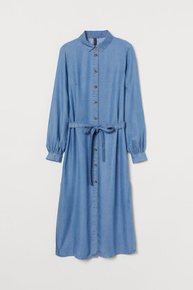 H&M Lyocell Shirt Dress - Blue