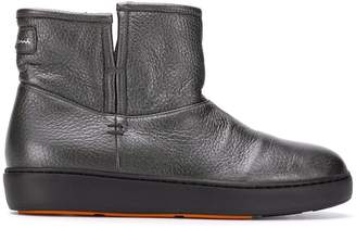 Santoni thick sole ankle boots