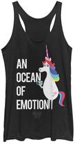 Fifth Sun Black Heather Inside Out 'Ocean of Emotion' Tank - Juniors