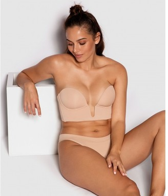 Bras N Things Extreme Plunge Strapless Contour Bra - Nude