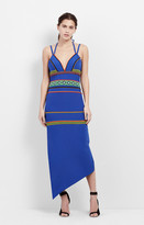 Nicole Miller Chaquira Beaded Asymmetric Dress