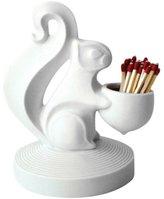 Jonathan Adler Squirrel Match Strike-White