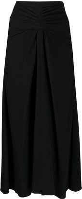 Rochas High Rise Midi Skirt