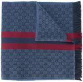 Gucci Web detail jacquard knit scarf