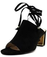 Adrienne Vittadini Panak Open-toe Leather Mules.