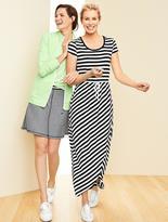 Talbots Tulip-Wrap Maxi Dress-Stripes