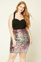 Forever 21 FOREVER 21+ Plus Size Sequin Skirt