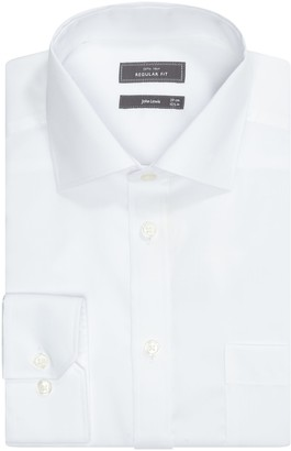 John Lewis & Partners Non Iron Cotton Twill Regular Fit XL Sleeve Shirt, White