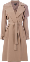 Theory draped fitted coat - women - Polyester/Polyurethane/Acetate - L