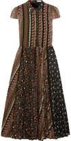 Alice + Olivia Bale Lace-trimmed Floral-print Stretch-jersey Midi Dress