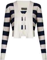 Dolce & Gabbana Striped cashmere and silk-blend cardigan