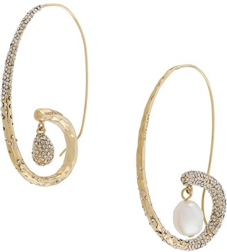 Givenchy Spiral Pearl Embellished Earrings